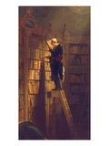 The Book Worm, about 1850 Giclée-vedos tekijänä Carl Spitzweg