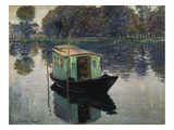 Monet's Studio-Boat, 1874 Giclee Print by Claude Monet