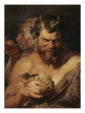 Two Satyrs, about 1615 Giclée-tryk af Peter Paul Rubens