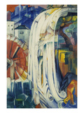 The Bewitched Mill, 1913 Giclée-tryk af Franz Marc
