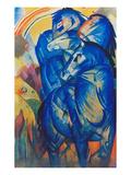 Tower of Blue Horses, 1913 Giclée-tryk af Franz Marc
