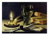 Still-Life with Burning Candle, 1627 Reproduction procédé giclée par Pieter Claesz