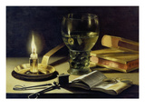 Still-Life with Burning Candle, 1627 Lámina giclée por Pieter Claesz