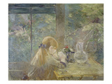 On the Veranda, 1884 Giclee Print by Berthe Morisot