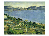 L'Estaque. Landscape in the Gulf of Marseille, about 1878/79 Giclee Print by Paul Cézanne