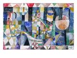 Hafenbild (Raddampfer), 1918 /142 Giclée-tryk af Paul Klee