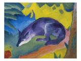 Blue Fox, 1911 Impressão giclée por Franz Marc
