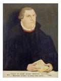 Portrait of Martin Luther, 1568 Giclée-tryk af the Elder (Studio of), Lucas Cranach