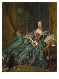 Portrait of Madame De Pompadour, 1756 Reproduction procédé giclée par Francois Boucher