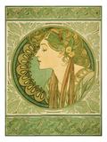 Laurel, 1921 Giclée-vedos tekijänä Alphonse Mucha