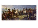 Napoleon Bonaparte at the Battle of Austerlitz Reproduction procédé giclée par Francois Gerard