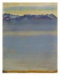 Lake Geneva with Savoyer Alps, 1907 Reproduction procédé giclée par Ferdinand Hodler