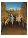 The Football Players, 1908 Giclee-trykk av Henri Rousseau