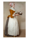 The Hot Chocolate Girl, about 1744/45 Giclée-tryk af Jean-Etienne Liotard