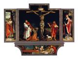 Isenheimer Altar. Erste Schauseite, Totale: die Hll.Antonius Und Sebastian Giclée-tryk af Matthias Grünewald