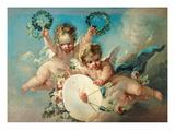 Cupid's Target Giclée-tryk af Francois Boucher