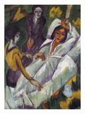 Women Taking Tea, 1914 Giclée-Druck von Ernst Ludwig Kirchner