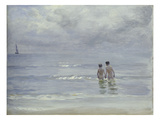 Boys Bathing on the Beach at Skagen, 1899 Giclee Print by Peder Severin Kröyer