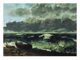 The Stormy Sea or the Wave, 1870 Giclee Print by Gustave Courbet