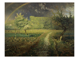Spring Landscape with Rainbow (Le Printemps), 1868/73 Giclee Print by Jean-François Millet