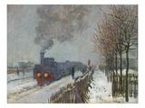 The Train in the Snow (Or: the Locomotive) 1875 Giclée-Druck von Claude Monet