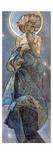 Sterne: la Luna, 1902 Stampa giclée di Alphonse Mucha