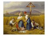 Harvest (Near Zell Am See), 1846/47 Giclee Print by Ferdinand Georg Waldmüller