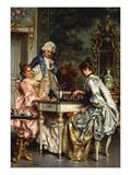 Playing Chess Giclee Print by Arturo Ricci