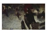 Wild Hunt, about 1889 Gicléetryck av Franz von Stuck