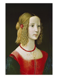 Portrait of a Young Girl. Probably About 1490 Giclée-tryk af Domenico Ghirlandaio