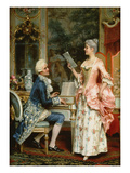 The Singing Lesson Giclee Print by Arturo Ricci