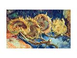 Four Cut Sunflowers, 1887 Giclée-tryk af Vincent van Gogh