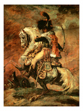 Officer of the Hussars on Horseback, 1812/16 Giclee Print by Théodore Géricault