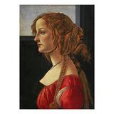 Portrait of a Young Woman in Profile (Simonetta Vespucci) Reproduction procédé giclée par Sandro Botticelli