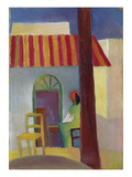 Turkish Cafe I., 1914 Giclee Print by Auguste Macke