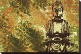 Zen Garden Stretched Canvas Print by Erin Clark