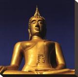 Golden Buddha Stretched Canvas Print