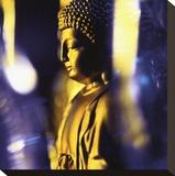 Blue Buddha Stretched Canvas Print