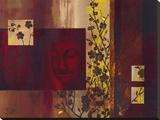 Buddha III Bedruckte aufgespannte Leinwand von  Verbeek & Van Den Broek