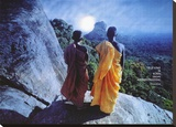 Forest Monks in Ceylon Stretched Canvas Print