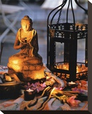 Bouddha en Lumiere Stretched Canvas Print