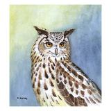 Eagle Owl II Reproduction procédé giclée par Friedhelm Weick