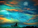 Near Southern Border Mars 2120 Fotografie-Druck von  Exploding Art