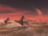 Sardukas Pyramids Year of the Sun Mars 2120 Fotografie-Druck von  Exploding Art