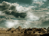 Thunderstorm Escarda Planes Mars 2120 Fotografie-Druck von  Exploding Art