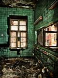 Abandoned Washroom Fotografie-Druck von  Exploding Art