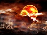 The Badlands Mars 2120 Fotografie-Druck von  Exploding Art
