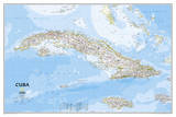 National Geographic - Cuba Classic Map Laminated Poster Kunstdruck von  National Geographic Maps