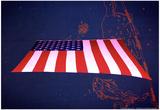 American Flag in Grand Central Station NYC Kunstdruck