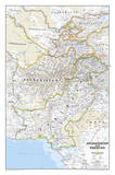 National Geographic - Afghanistan / Pakistan Map Laminated Poster Plakater av Geographic, National